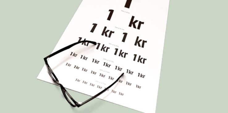 KomplettSyn synundersökning för bara 1 kr när du köper glasögon från 395 kr