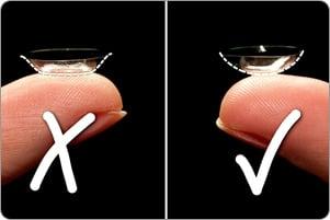Hur du sätter i dina kontaktlinser